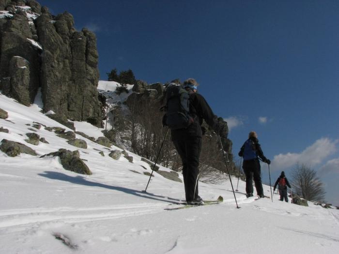 A skis sur les haut plateaux ardéchois © O.Mathis